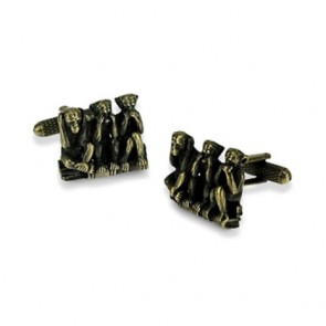 Three Monkeys Cufflinks