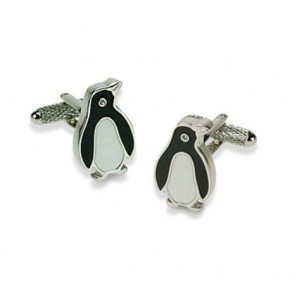 Crystal Eye Penguin Cufflinks