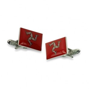 Isle Of Man Flag Shaped Cufflinks
