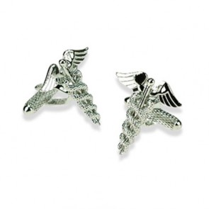 Doctors Caduceus Symbol Cufflinks