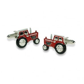 Red Tractor Shaped Cufflinks