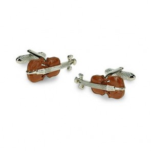 Violin Colour Detailed Cufflinks