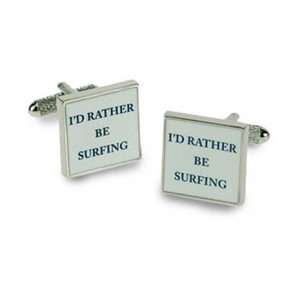 I'd Rather Be Surfing Cufflinks