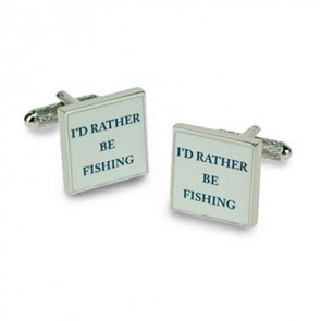 I'd Rather Be Fishing Cufflinks
