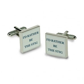 I'd Rather Be The Stig Cufflinks