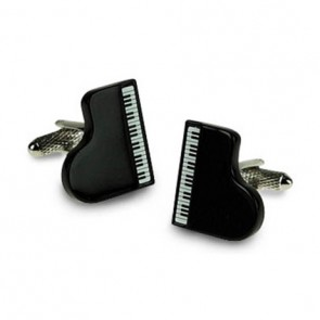 Grand Black Piano Cufflinks