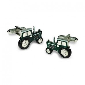 Dark Green Tractor Cufflinks
