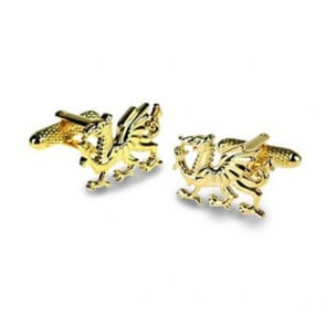 Welsh Dragon Gilt Cufflinks