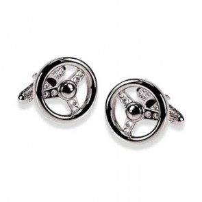 Steering Wheel Simple Cufflinks