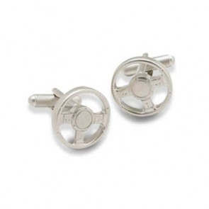 Steering Wheel Shaped Cufflinks