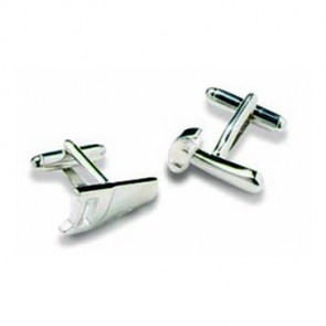 Hammer And Saw Silver Look Cufflinks