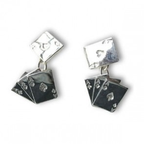 Sterling Silver Aces Cufflinks