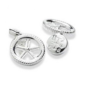 Wheel And Gears Chain Cufflinks