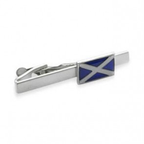Scottish Flag Patterned Tie Bar