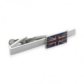 Union Jack Flag Style Tie Bar