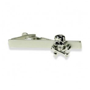 Skull And Crossbones Tie Bar