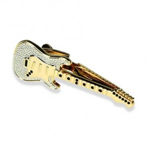 Guitar Gold Look Tie Bar