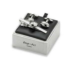 Rugby Ball Cufflinks Box Set
