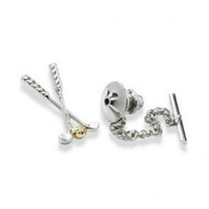 Clear Crystal Golf Club Tie Pin