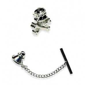 Skull And Crossbones Tie Pin