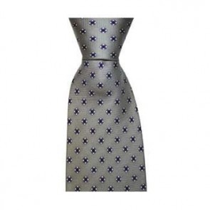 Grey Diamond Flower Tie