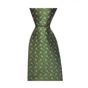 Green And Pink Stirrups Tie