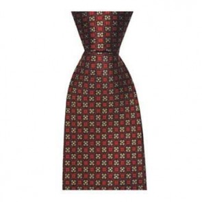 Red And Grey Flowers Tie