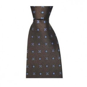 Chocolate Cross Flowers Tie
