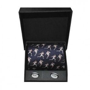 Rugby Player Cufflink And Tie Gift Box