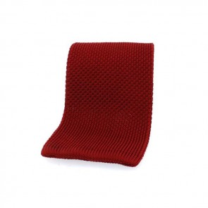 Red Straight Cut Tie