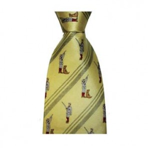 Yellow Gun Dog And Hunter Tie