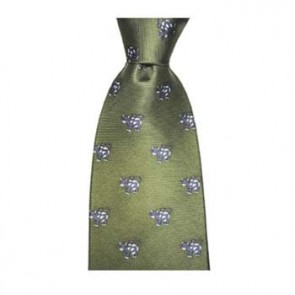 Green Amusing Cow Tie
