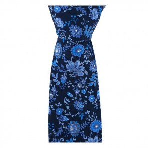 Navy Blue And Blue Posh And Dandy Flower Tie
