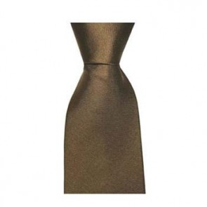 Brown Solid Colour Style Tie