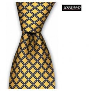 Yellow And Blue Chain Link Tie