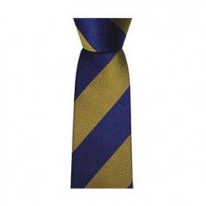 Blue And Yellow Stripe Tie
