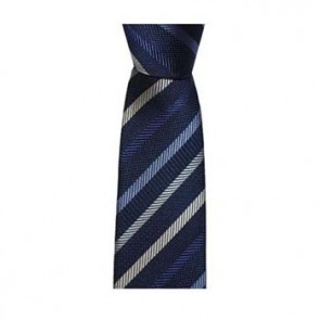 Blue And Grey Thin Stripe Tie