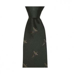 Green Flying Pheasant Patterned Tie