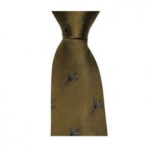 Gold Flying Pheasant Patterned Tie