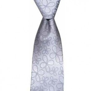 Light Blue Flowers Tie