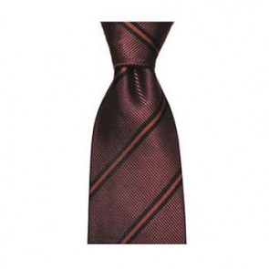 Wine Diagonal Stripe Tie