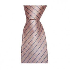 Pink Cross Stripe Tie