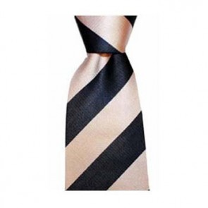 Navy Blue And Pink Wide Stripe Tie