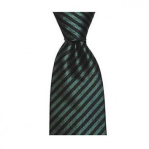 Navy Blue And Green Thin Stripe Tie