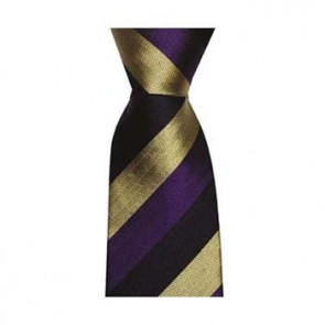 Navy Bleu And Purple Wide Stripe Tie