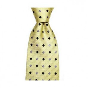 Pastel Yellow And Blue Diamond Spot Tie