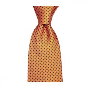 Orange And Navy Square Spot Tie