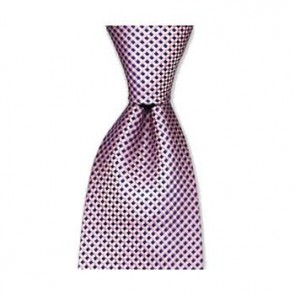 Pink And Blue Check Style Tie