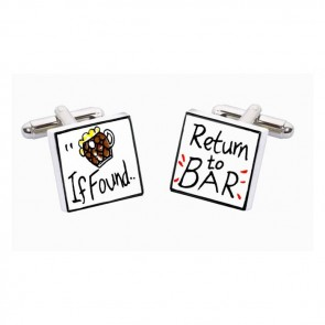 If Found Return To Bar Cufflinks