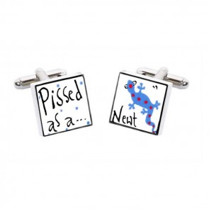 Pissed As A Newt Cufflinks